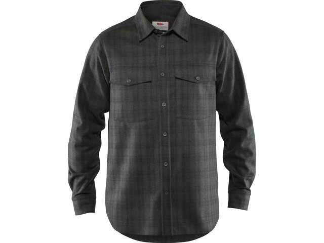 Fjällräven Övik Re-Wool Camicia Uomo, dark grey-olive